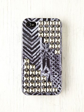 Printed Studded iPhone 4/4S Case Free People