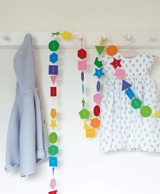 From my book. Paper shapes garland *^_^*