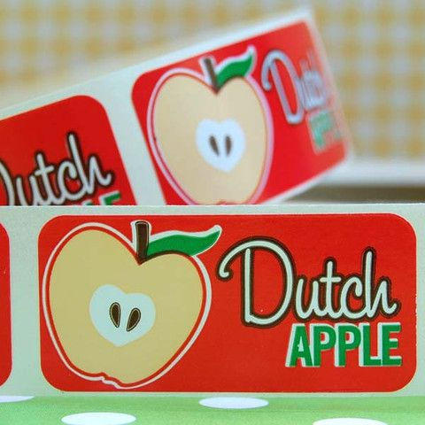 Dutch Apple Bakery Labels - Layer Cake Shop