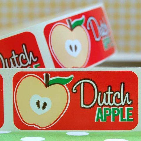 Dutch Apple Bakery Labels - Layer Cake Shop