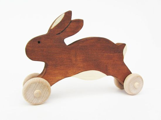 Wooden Easter Bunny Toy  Easter Rabbit gift eco by Imaginationkids, $13.00