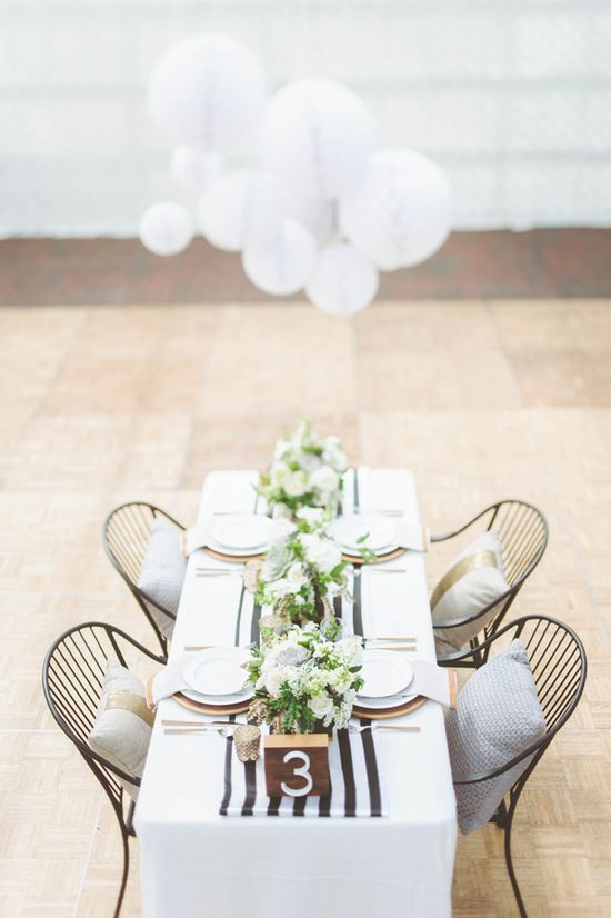 chic reception table // photo by Paper Antler, styling by Confetti Pop // ruffledblog.com/...