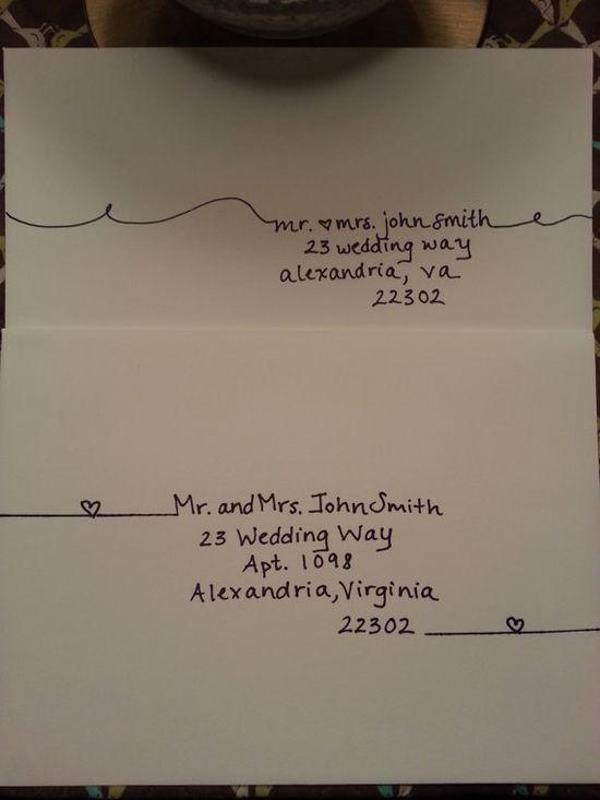 Handwritten envelopes. Super cute