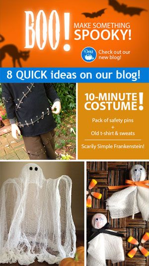 It's last-minute #Halloween crafting! Check out these #costume, decor and trick-or-treating ideas.  They are super quick and super easy. From the Dritz make something blog. #Halloween #kids #crafts #DIY from @Danielle Ritzman Sewing