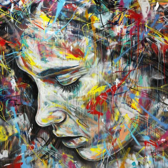 Spray paint #art by London artist David Walker.