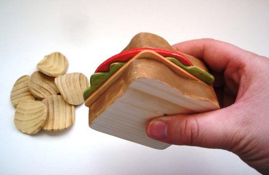 Wooden sandwich, $20