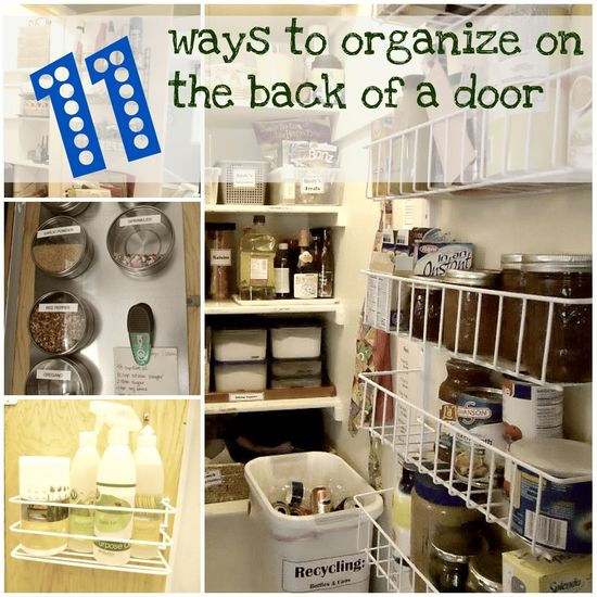 Check out the many ways to organize on the back of the door!