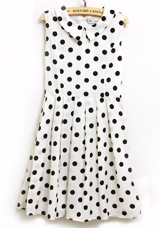 Polka Dot Dress - cute collar!