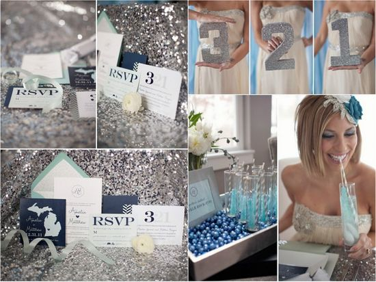 Silver New Year's Eve Wedding Ideas