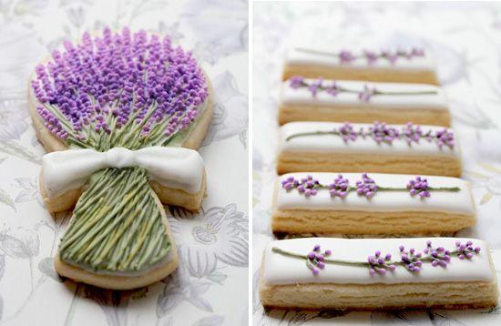 Красивые лаванды печенье из www.artymcgoo.blogspot.com
