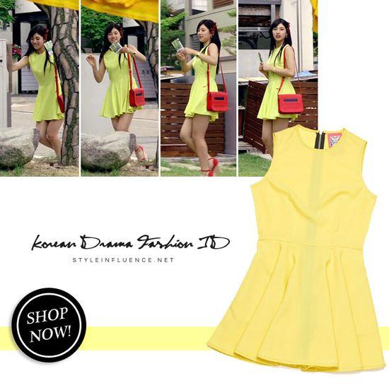 [Korean Drama Fashion] Big, BAE SUZY – Yellow Mini Dress