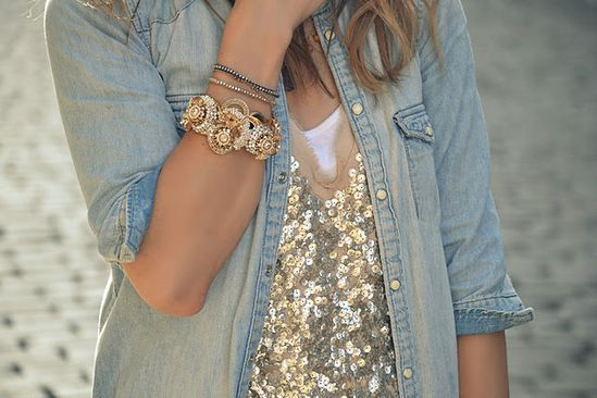 sparkles & chambray