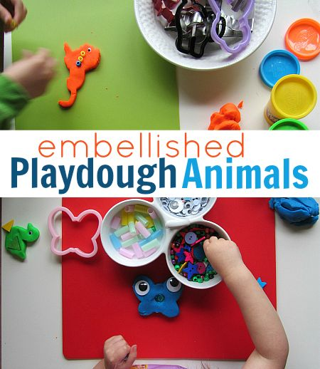 Playdough play- add in some googly eyes, beads and explore the possibilities!