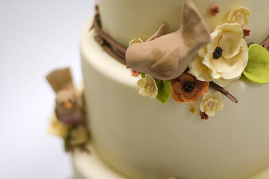 Autumn Nature Wedding Cake by studiocake, via Flickr