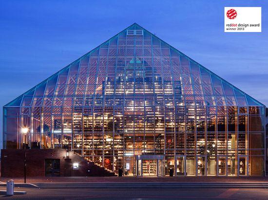 MVRDV's Book Mountain Wins Prestigious Red Dot Design Award #thenetherlands #architecture
