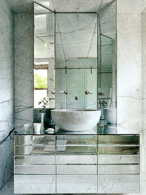 Bathroom done with marble