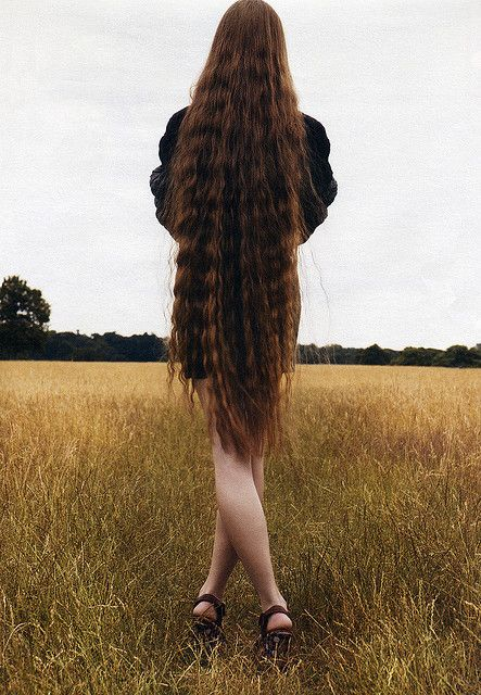 beautiful long hair!  --  I have about 3/4 of this...