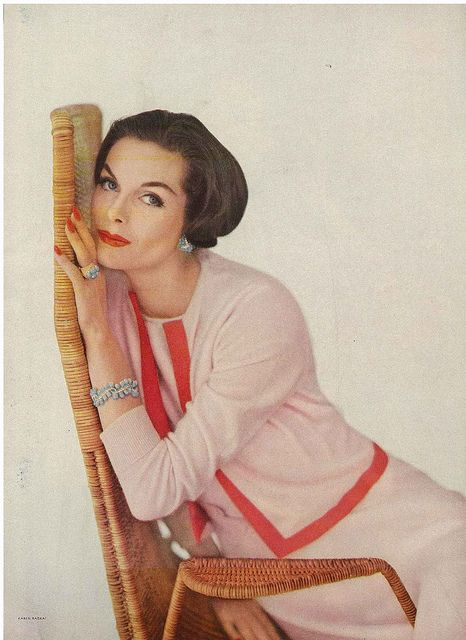 Feminine hues and simple, understatedly lovely tailoring. #Vogue #vintage #fashion #clothes #1950s