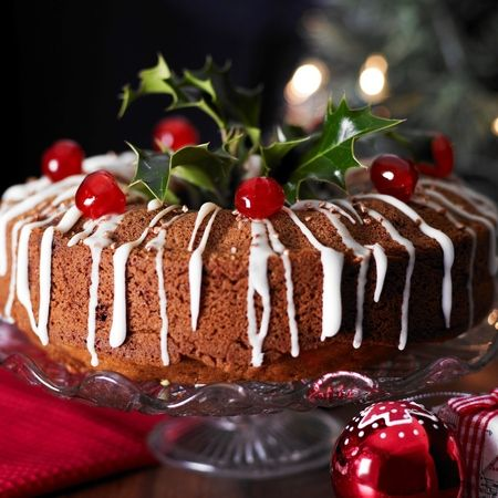 This delicious Christmas sponge cake recipe is a real festive centrepiece...