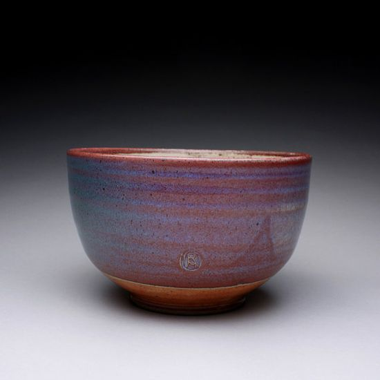 serving bowl handmade pottery bowl with orange by rmoralespottery, $45.00
