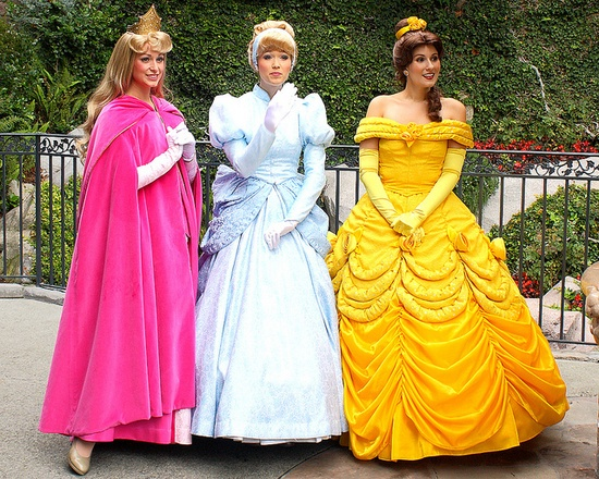 Sleeping Beauty, Cinderella, and Belle