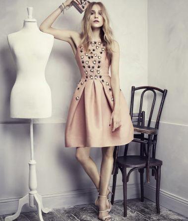peach elegant dress