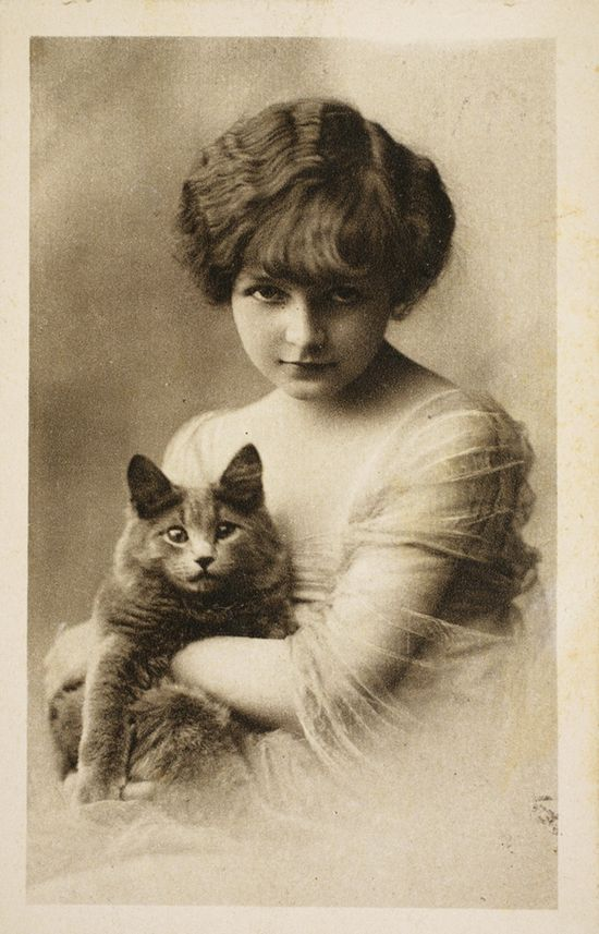 Vintage Kitty with his Person, 1922