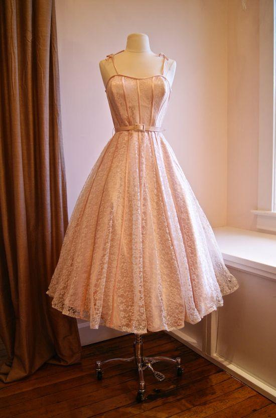 50s Dress // 1950s Party Dress // 50s Wedding by xtabayvintage, $398.00