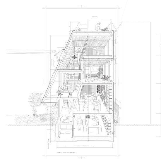 Atelier Bow-Wow - House & Atelier, 3D section