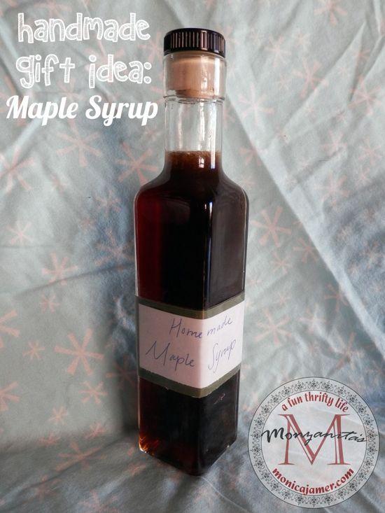 Handmade Gift Idea: Maple Syrup