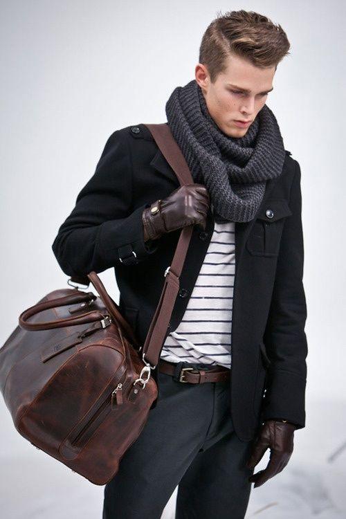 scarf, jacket, stripes, gloves, mens fashion, fashion