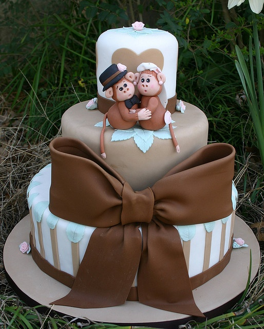 Monkey Love Wedding Cake