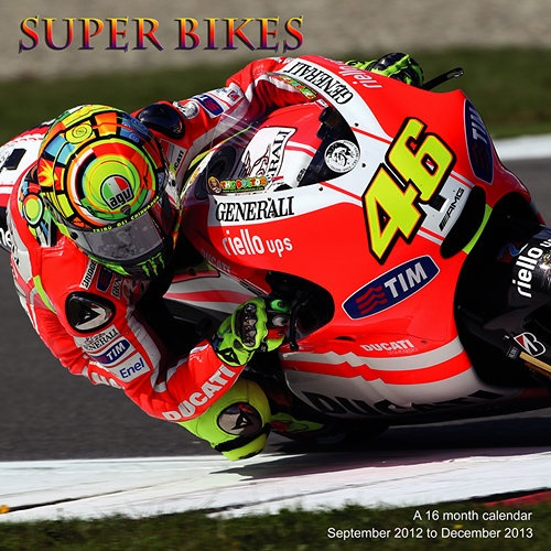 Super Bikes Wall Calendar: Enjoy a full year of Super Bikes with a dozen exciting images of the Grand Prix Motor racing.  www.calendars.com...