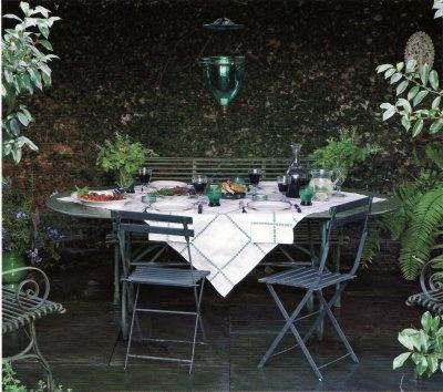 Intimate patio.