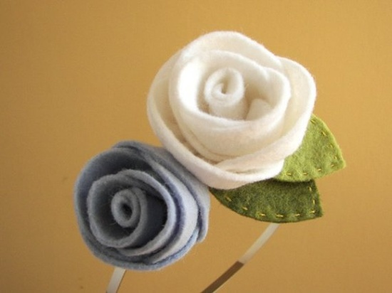 Wool felt roses