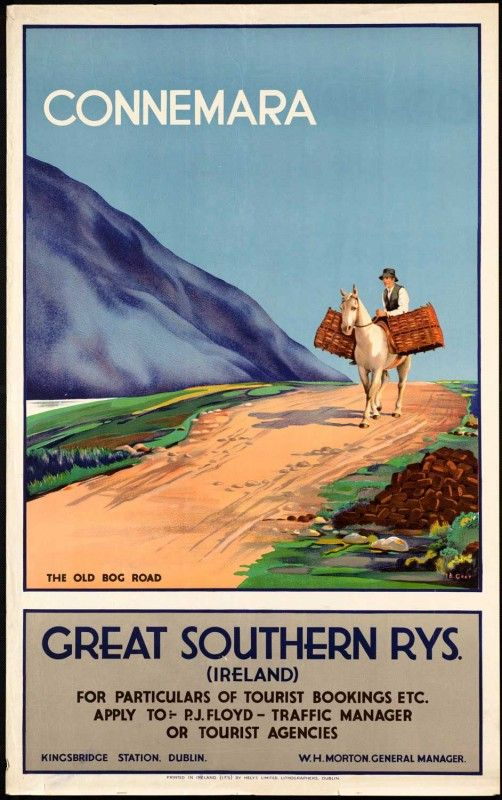 Connemara #vintage #travel #poster #Ireland
