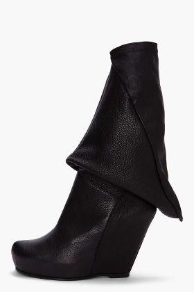 rick owens geometric wedge boots.