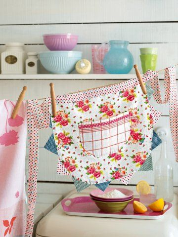 A flowered apron
