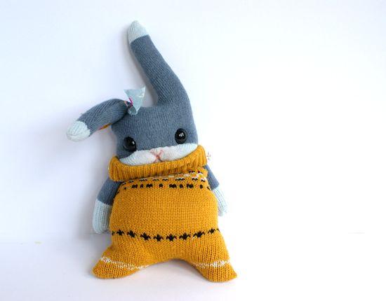 Little Sock Rabbit. $35.00, via Etsy.
