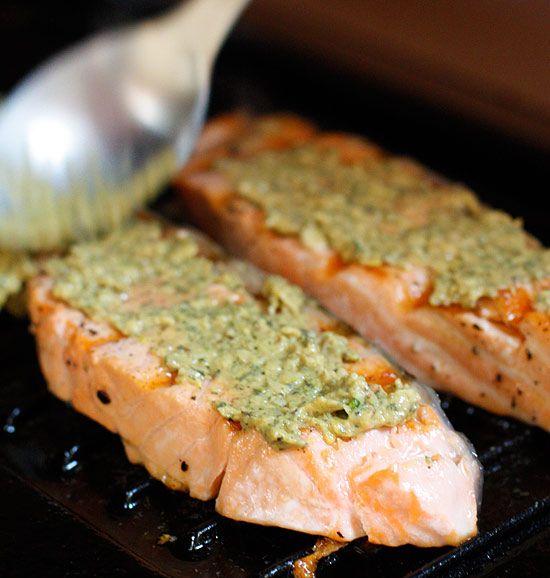 Garlic Herb Dijon Salmon