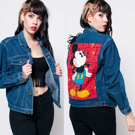 Ultimate Mickey Mouse Jean Jacket. $68.00, via Etsy.