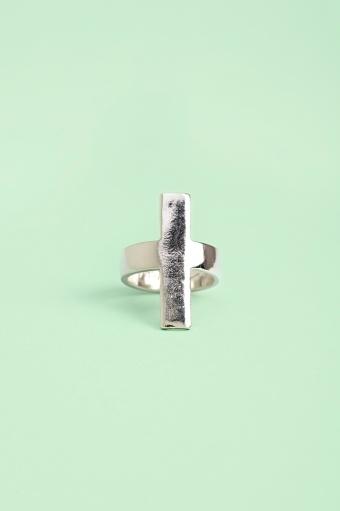 Infinity Cross Ring in Silver