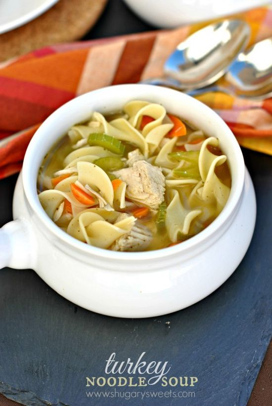 Turkey Noodle Soup - Shugary Sweets
