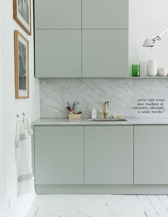 mint green kitchen #styling