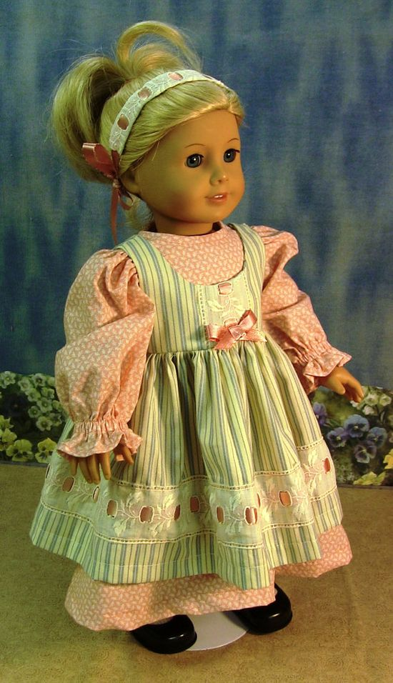 Caroline American Girl Prairie Valley dress by GrannySallyAnns, $18.00
