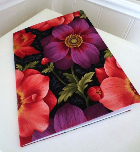 Flower Notebook  Journal by PeacefullyPerfect on Etsy, $17.00
