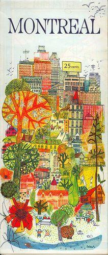 Montreal Map front 1967  artist: Dolesch