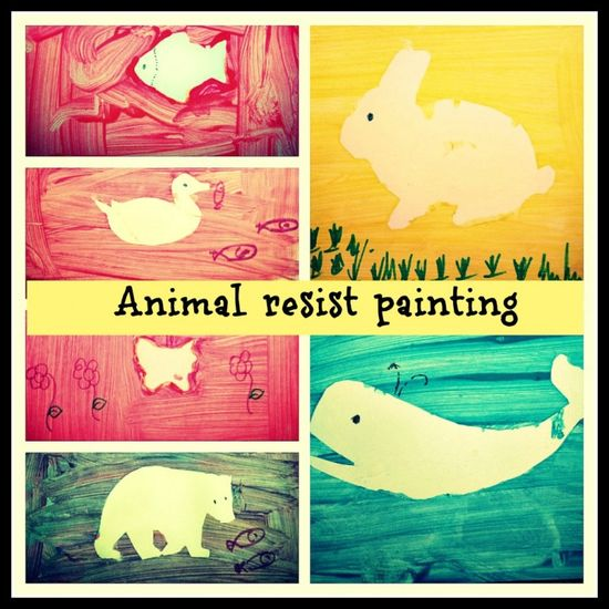 picture resist art for toddlers