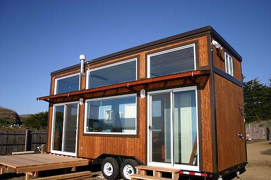 "Jason's Molecule Tiny Homes - Jason says, ""This house was custom built for a surfer. It is designed to take full advantage of the beauty of the ocean and provide a constant connection to nature. It features a large sleeping loft, roomy bathroom with glass shower, large open kitchen with custom concrete counter, and a very open feel.""  Visit moleculetinyhomes..."