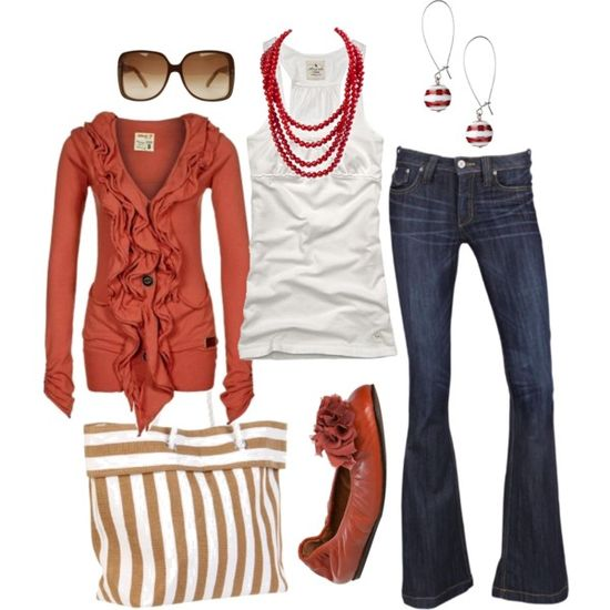 love the cardigan and the jeans!